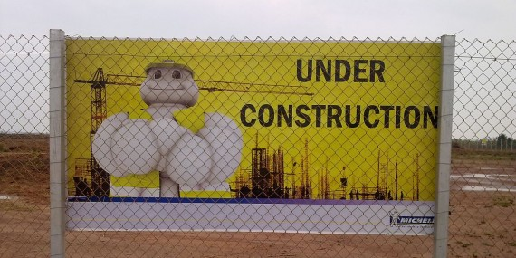 Michelin under construction