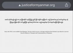 Site Internet de Justice For Myanmar dans sa version Birmane (Image du Myanmar Times)